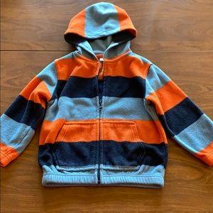 Blue/orange zip up